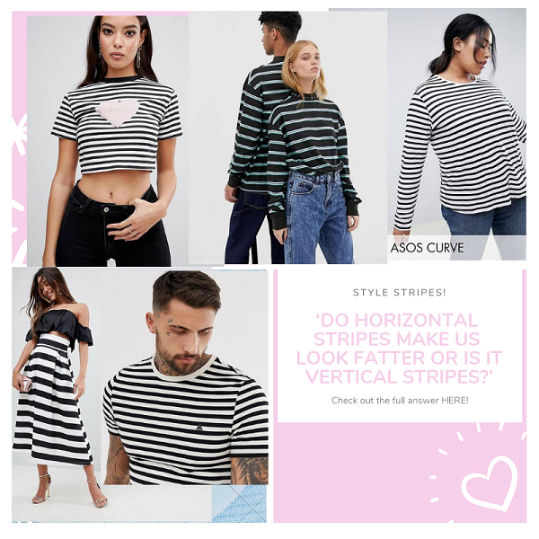 horizontal black and white stripe clothes