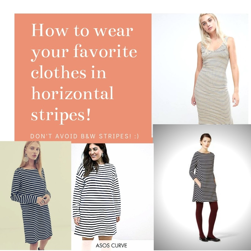 how to wear black and white horizontal stripe dress according to your type of body